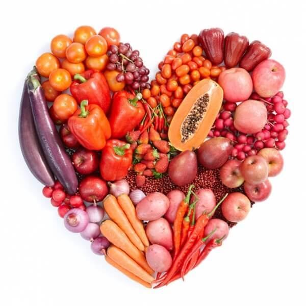 Употребляйте фрукты и овощи красного/оранжевого цвета для заземления энергии