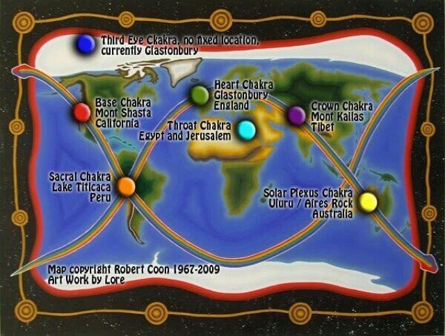 Чакры земли: Карта жизнедающего теллургического потока Земли