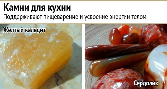 Использование энергии камней на кухне