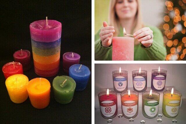 как открыть чакры: свечи