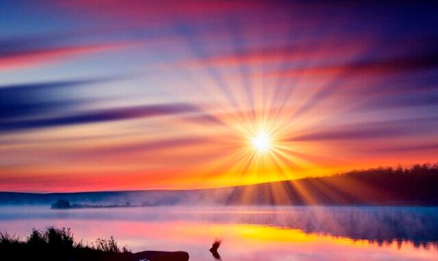 1. Поприветствуйте восход и закат
