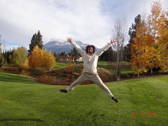 Радость Мариса от прибытия к горе Шаста